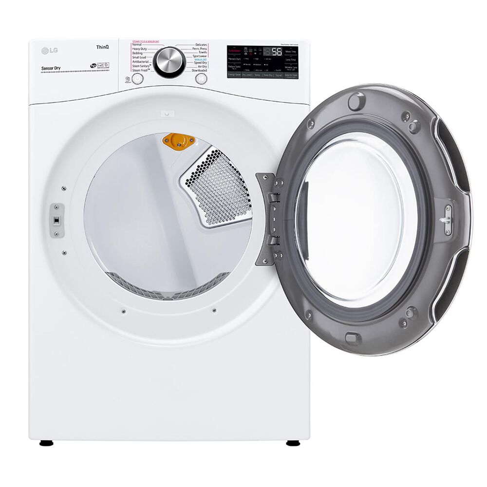 LG 5.0 Cu. Ft. Front Load Washer and 7.4 Cu. Ft. Gas Dryer with TurboWash 360 Laundry Pair in White, , large