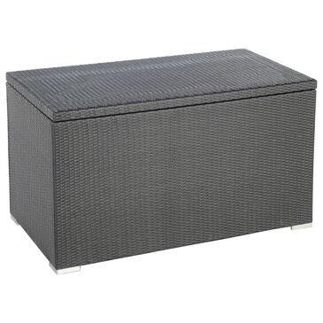 Alfresco Home Sicuro Wicker Cushion Storage Box with Hydraulic Lid in Oxford Black, , large