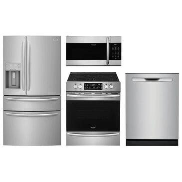 Frigidaire Gallery 4-Piece Kitchen Package with Slide-in Electric Range - Stainless Steel, , large