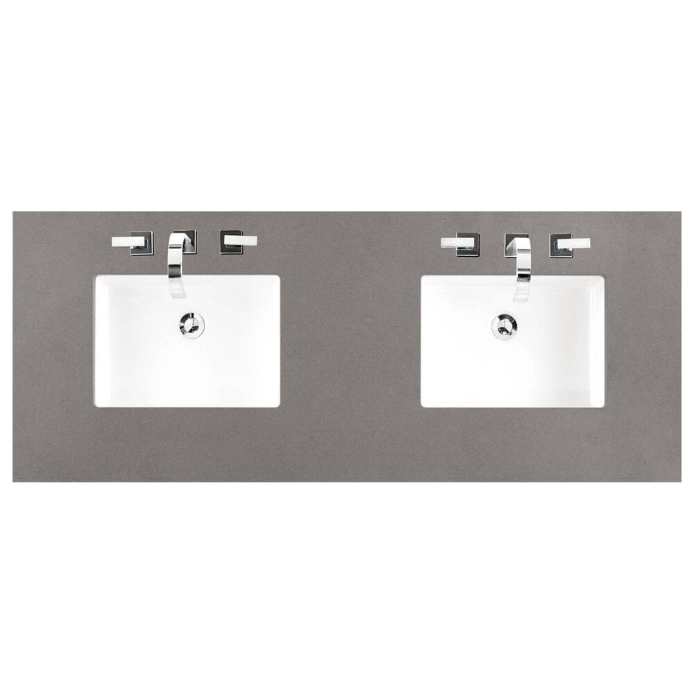 "James Martin Addison 72"" Double Bathroom Vanity in Mid Century Acacia with 3 cm Grey Expo Quartz Top, , large"