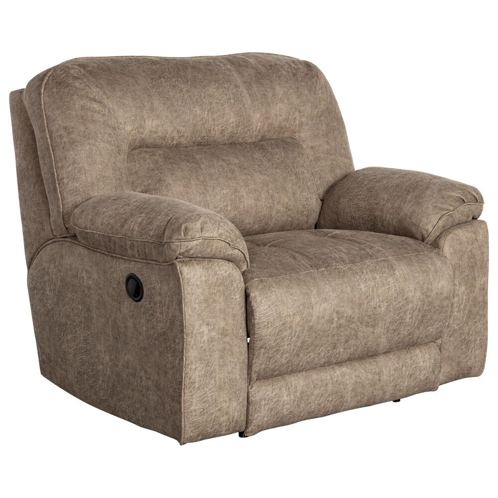 Southern Motion Top Gun Reclining Chair and 1/2 in Granite, , large
