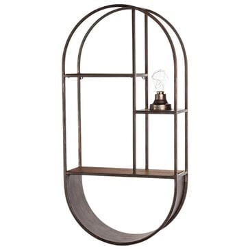 The Gerson Company Wall Shelf with Light in Grey, , large