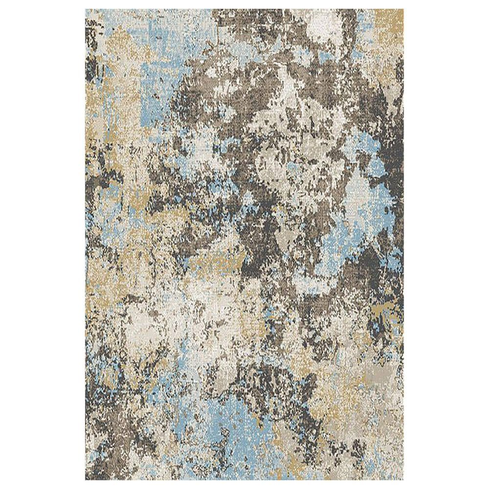 "Central Oriental Sientan Darani 2517.257 2'2"" x 3' Yellow and Light Blue Area Rug, , large"