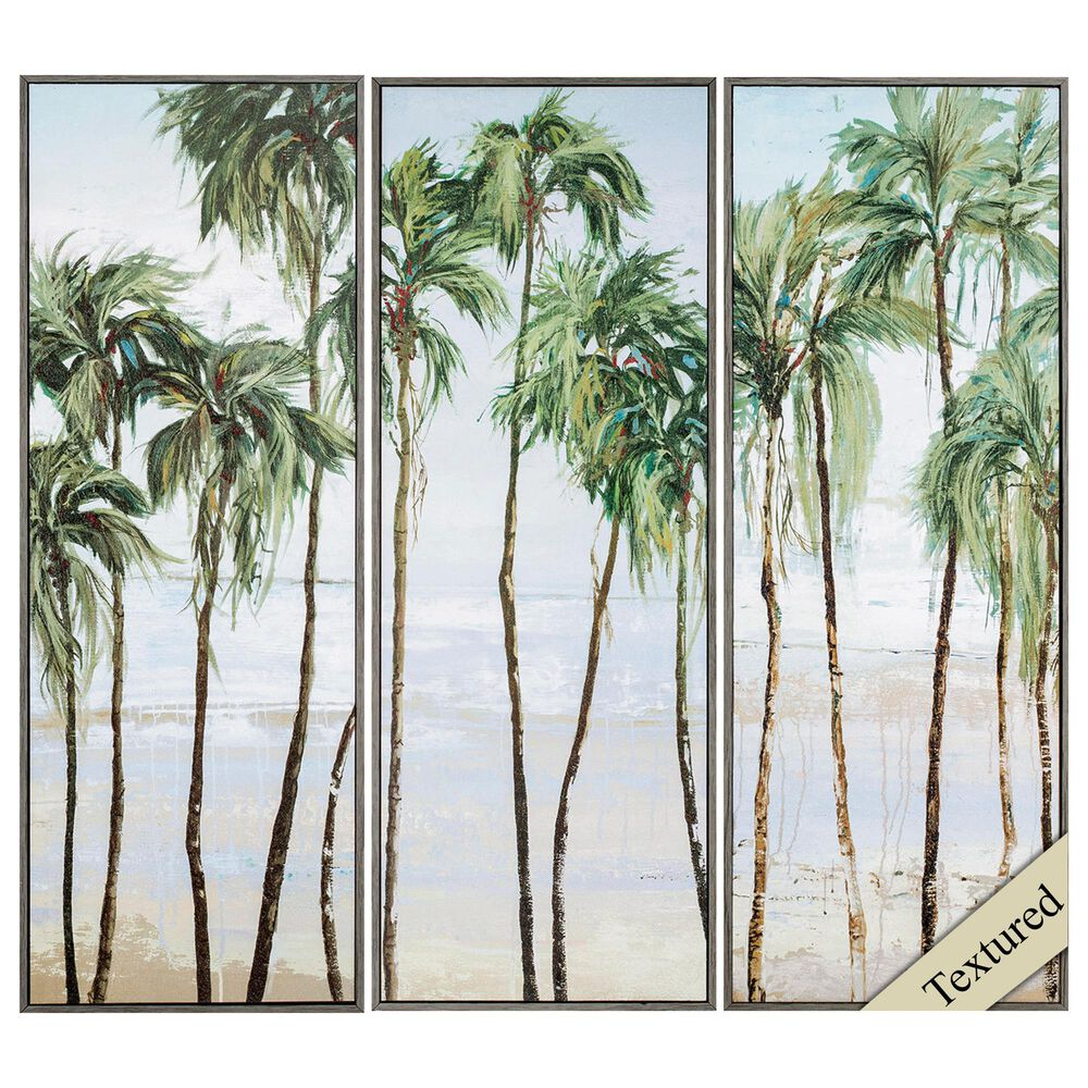 """Propac """"Palm Breeze"""" Wall Art in Green (Set of 3), , large"""