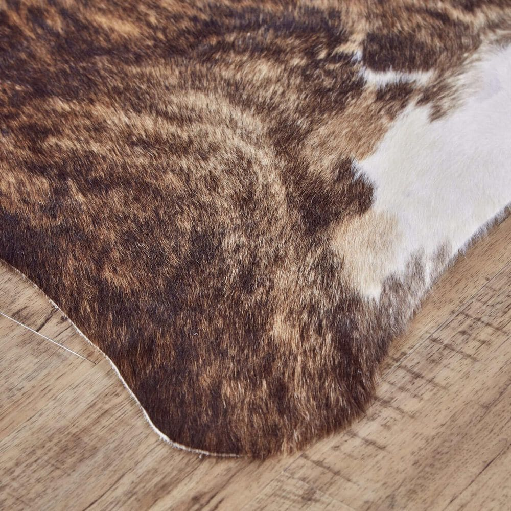 Feizy Rugs Bartlett Animal Cowhide 5' x 7' Exotic and Light Area Rug, , large