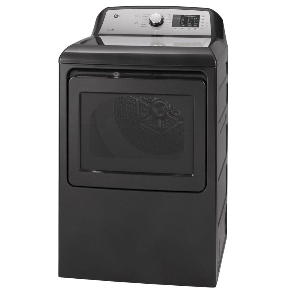 GE Appliances 4.6 Cu. Ft. Top Load Washer with Agitator and 7.4 Cu. Ft. Electric Dryer Laundry Pair in Diamond Gray , , large