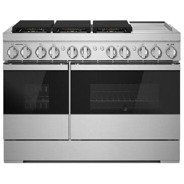"""Jenn-Air Noir 48"""" Professional Range with Gas Grill in Stainless Steel, , large"""