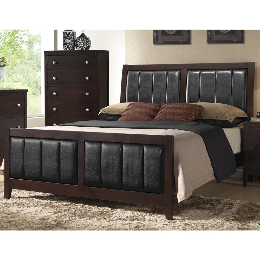 Pacific Landing Carlton Upholstered King Bed in Cappuccino, , large