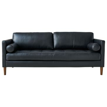 Mayberry Hill Stockholm Leather Loveseat in Fiero Black, , large