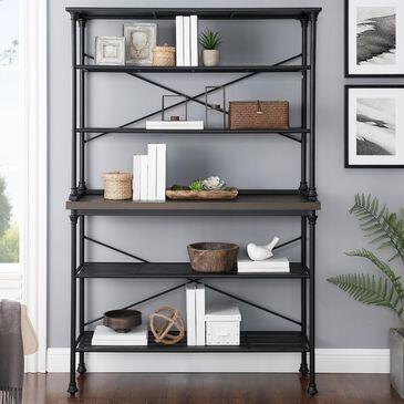 Crosley Furniture Madeleine Baker's Rack in Brown/Matte Black, , large