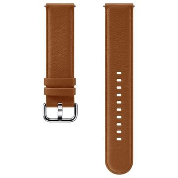 Samsung Leather Band for Galaxy Watch Active2 in Brown, , large
