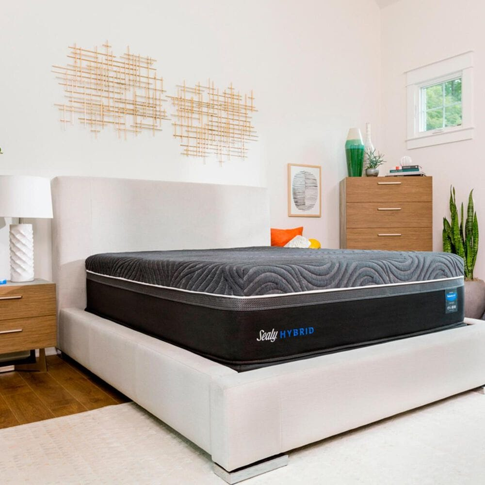 Sealy Premium Silver Chill Hybrid Plush Queen Mattress Only, , large