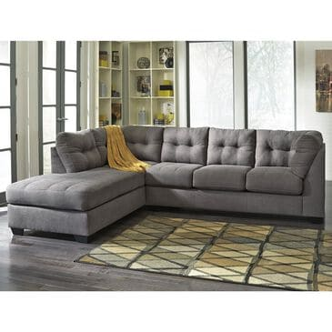 Signature Design by Ashley Maier 2-Piece Sectional with Chaise in Charcoal, , large
