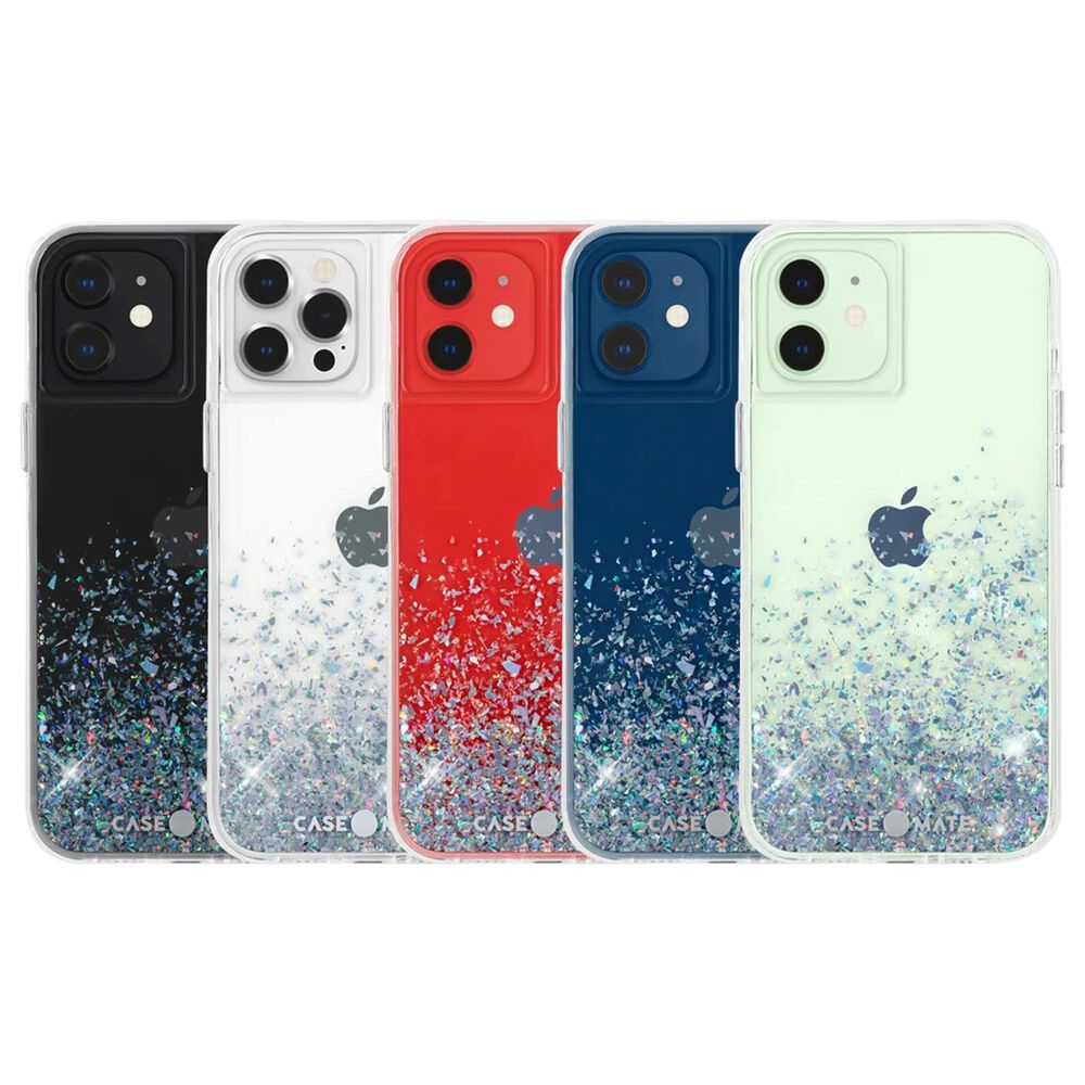Case-Mate Twinkle Case With Micropel For Apple iPhone 12 / 12 Pro in Ombre Black, , large