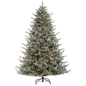 The Gerson Company Sterling 7.5' Natural Cut Lightly Flocked Olympia Fir with 800 UL White Lights, , large