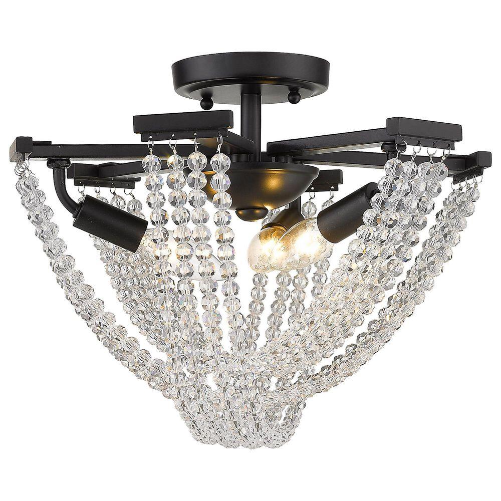 Golden Lighting Samba 3-Light Semi-Flush in Matte Black, , large