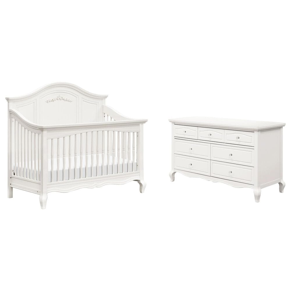 New Haus Mirabelle Crib and Dresser in Warm White, , large