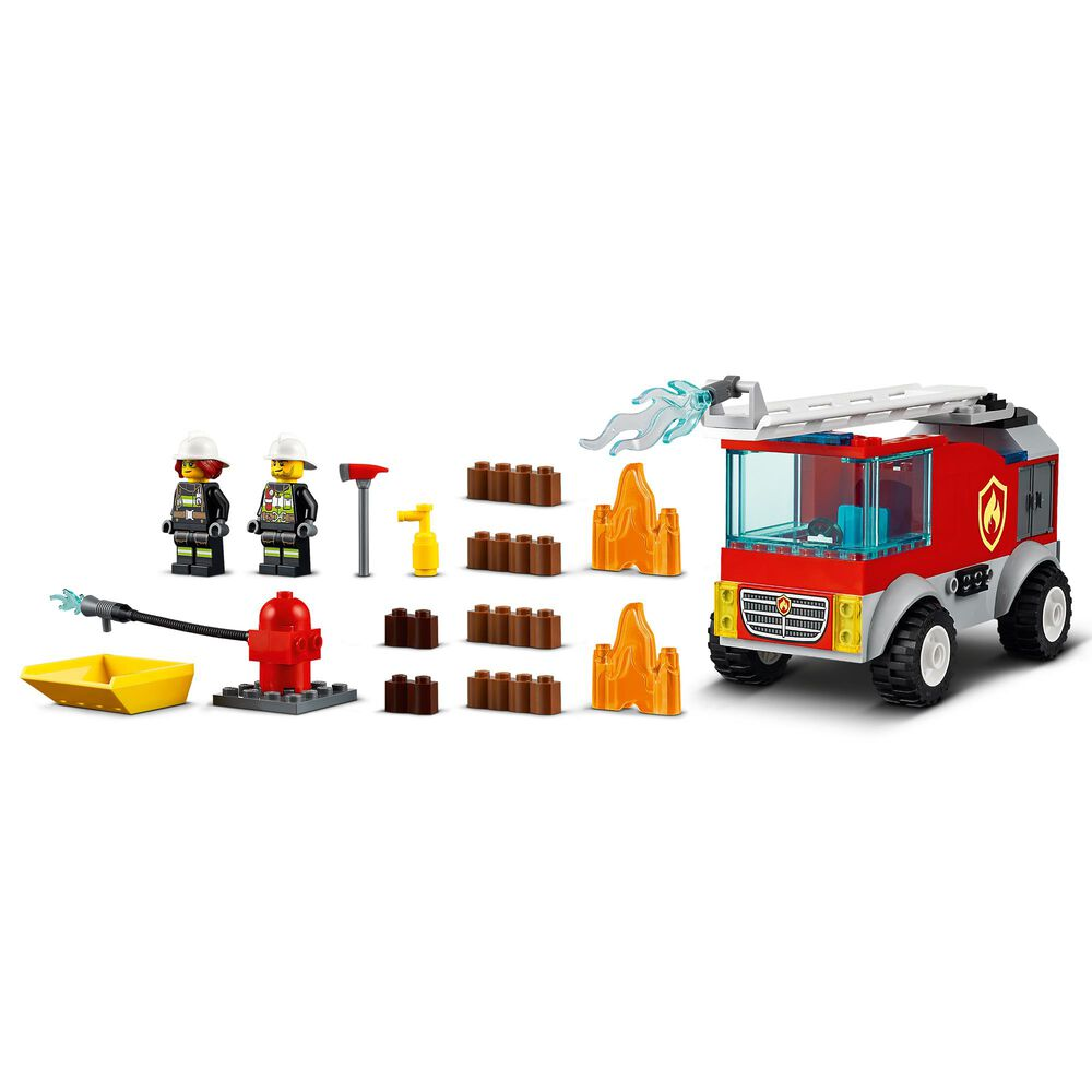 LEGO City Fire Ladder Truck Building Toy, , large