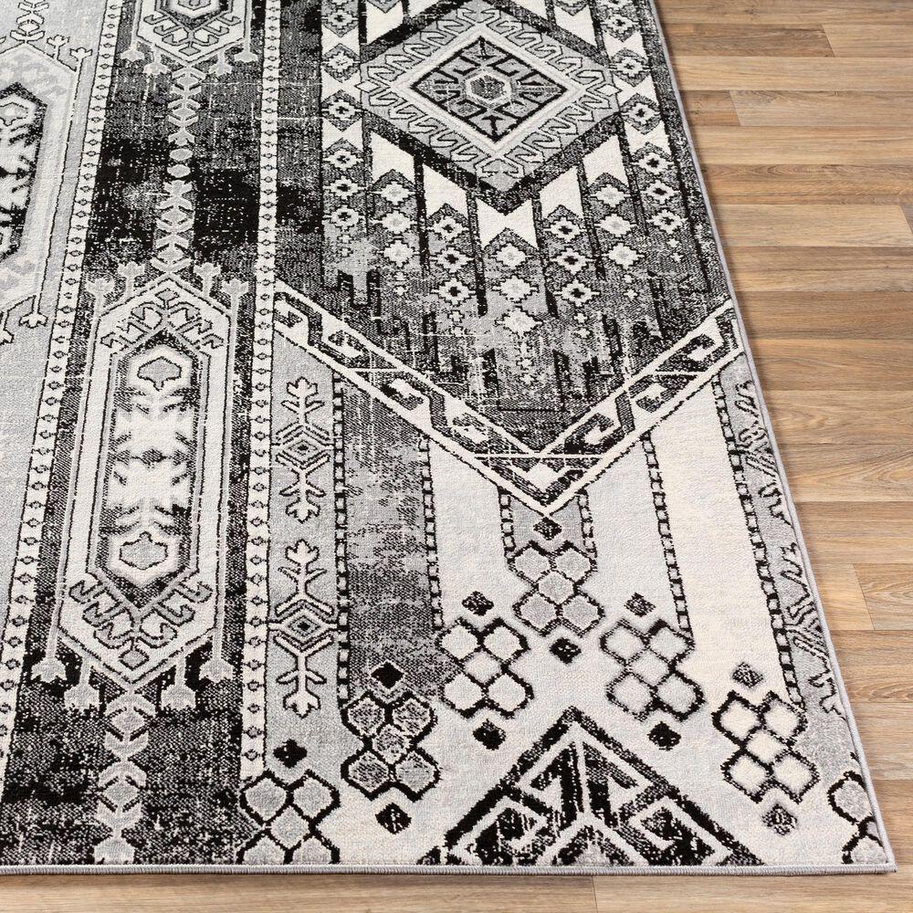 "Surya Monaco MOC-2325 4'3"" x 6' Black and Silver Gray Area Rug, , large"
