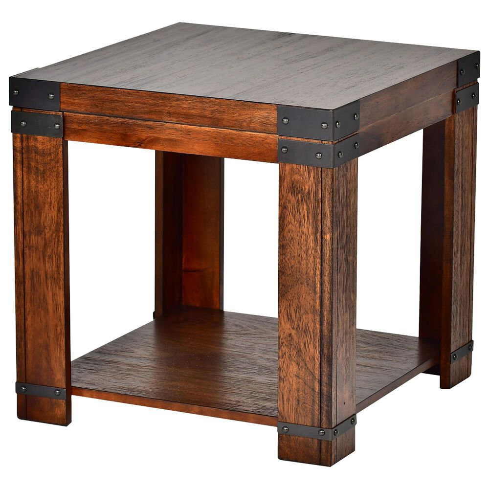 Steve Silver Arusha End Table in Medium Cherry, , large