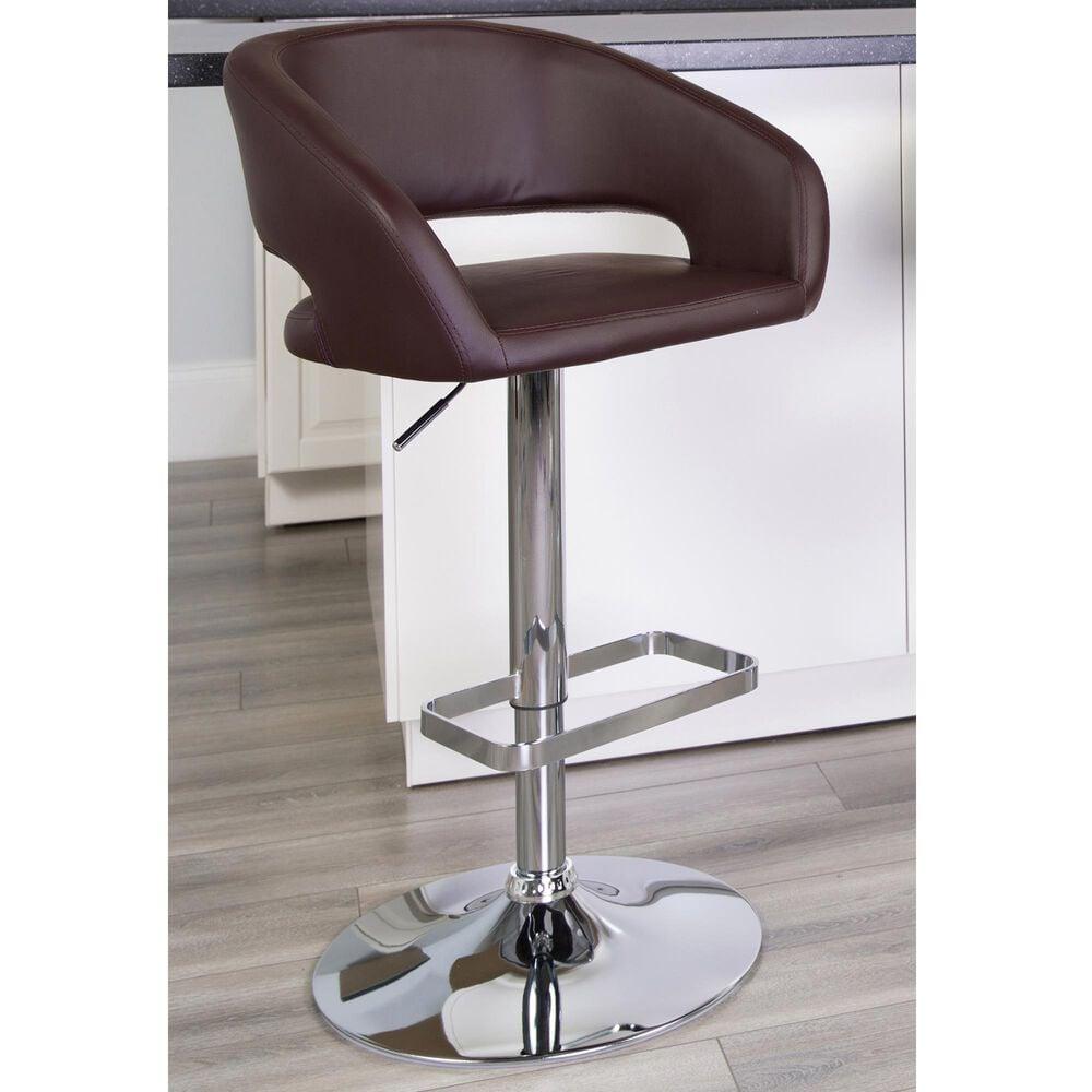 Flash Furniture Adjustable Barstool in Brown, , large
