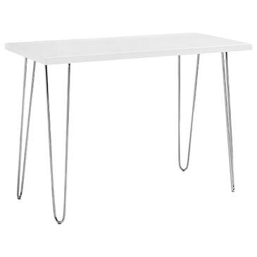 """Walker Edison 42"""" Writing Desk in White, , large"""