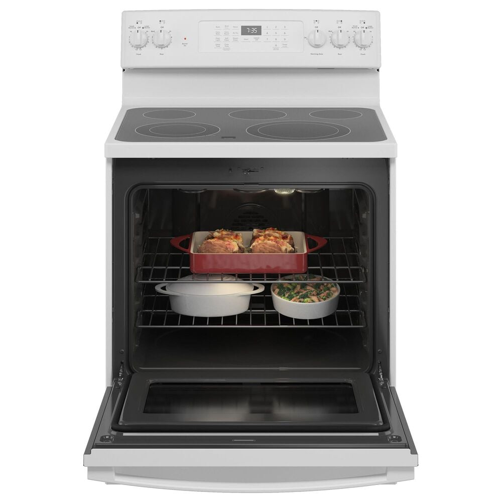 GE Appliances 2-Piece Kitchen Package with 30'' Electric Range and 1.9 Cu. Ft. Microwave Oven in White, , large