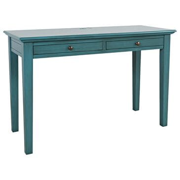 Waltham Craftsman 2-Drawer Power Desk in Antique Blue, , large