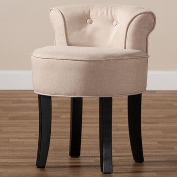 Baxton Studio Cerise Accent Chair in Beige, , large