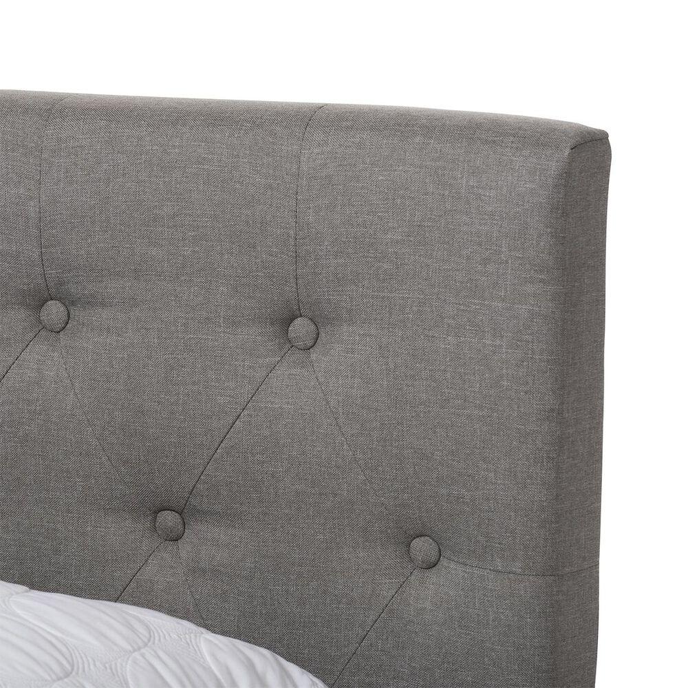 Baxton Studio Cassandra Upholstered Full Bed in Light Grey, , large