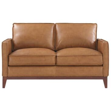 Italiano Furniture Newport Leather Loveseat in Camel, , large