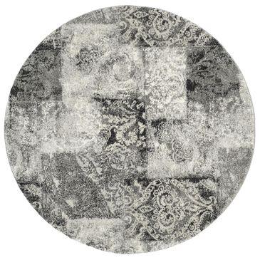 Safavieh Retro RET2137-1180 6' Round Cream and Grey Area Rug, , large