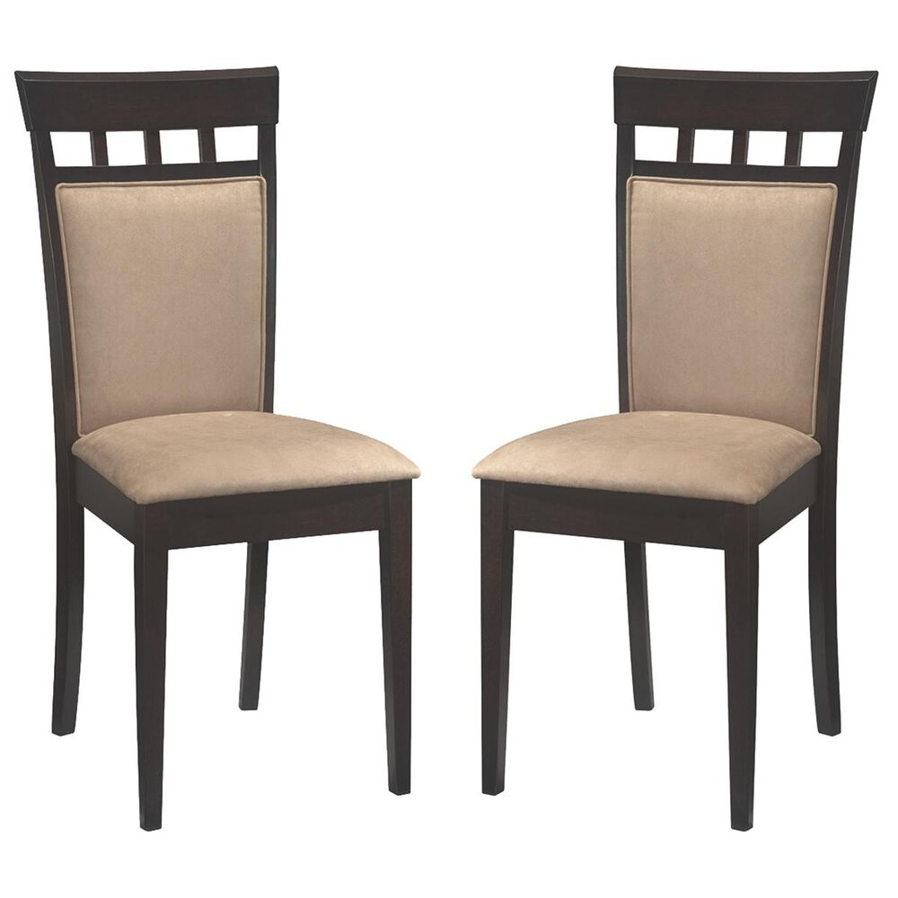Pacific Landing Mix & Match Back Panel Side Chair in Cappuccino - Set of 2, , large