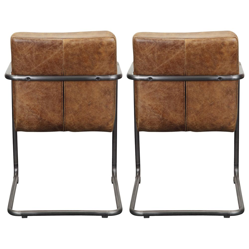 Moe's Home Collection Ansel Arm Chair in Brown (Set of 2), , large