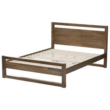 Baxton Studio Torino King Platform Bed in Walnut, , large