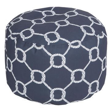 Surya Inc Linked Rope Cylinder Pouf in Navy, , large