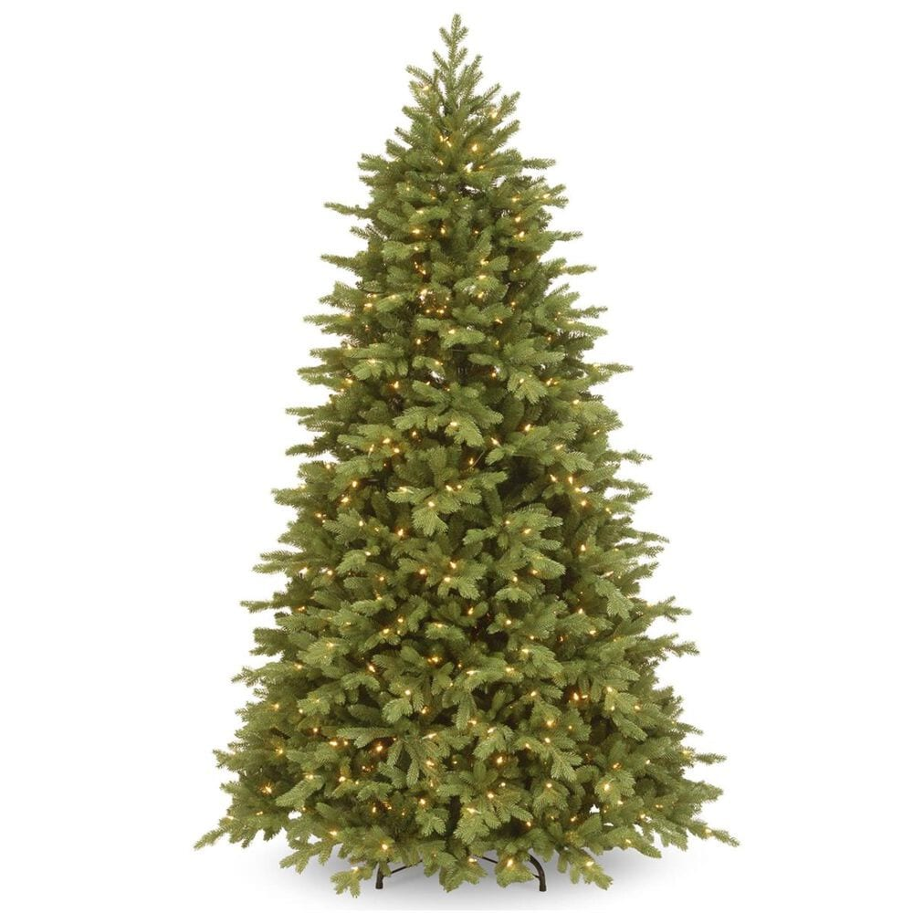 National Tree 7.5' Feel Real Princeton Fraser Fir Tree with 800 Dual Color LED Lights, , large