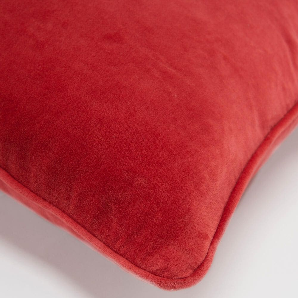 """Rizzy Home Connie Post Solid 20"""" Pillow Cover in Coral, , large"""