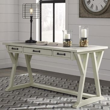Signature Design by Ashley Jonileene Home Office Large Leg Desk in White and Gray, , large
