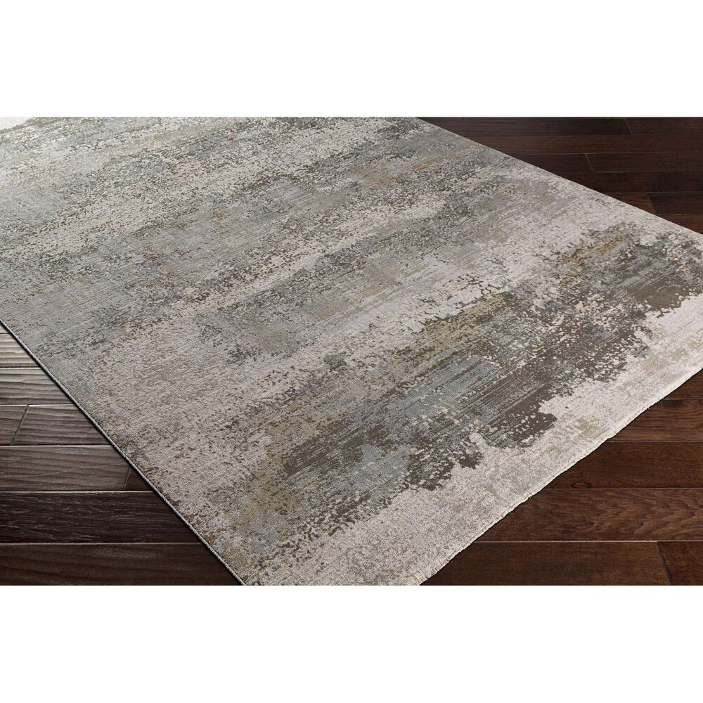 "Surya Brunswick 6'7"" x 9'6"" Sage, Gray, White, Blue and Brown Area Rug, , large"