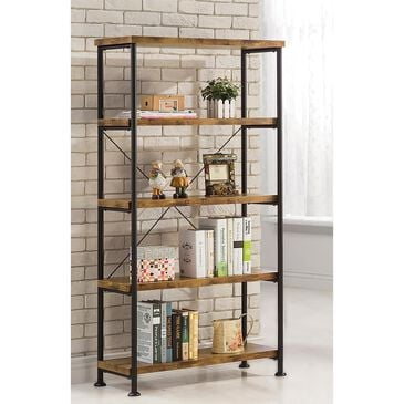 Pacific Landing Bookcase in Antique Nutmeg and Black, , large