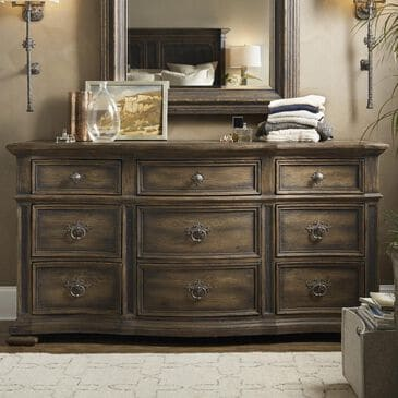 Nineteen37 Hill Country Williamson 9 Drawer Dresser in Saddle Brown, , large