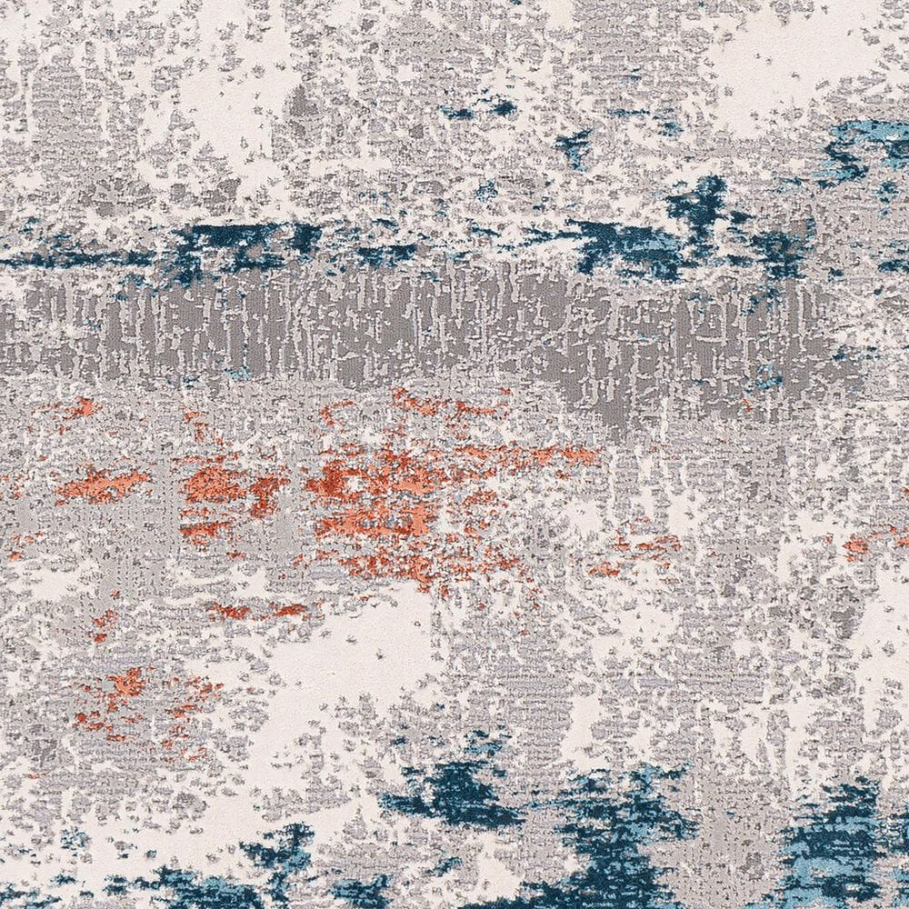 """Surya Tibetan TBT-2328 2'7"""" x 7'7"""" Coral, Ivory, Taupe, Dark Green, Teal and Rust Runner, , large"""