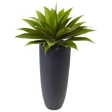 """Nearly Natural Inc 38"""" Agave Artificial Plant in Gray Cylinder Planter, , large"""