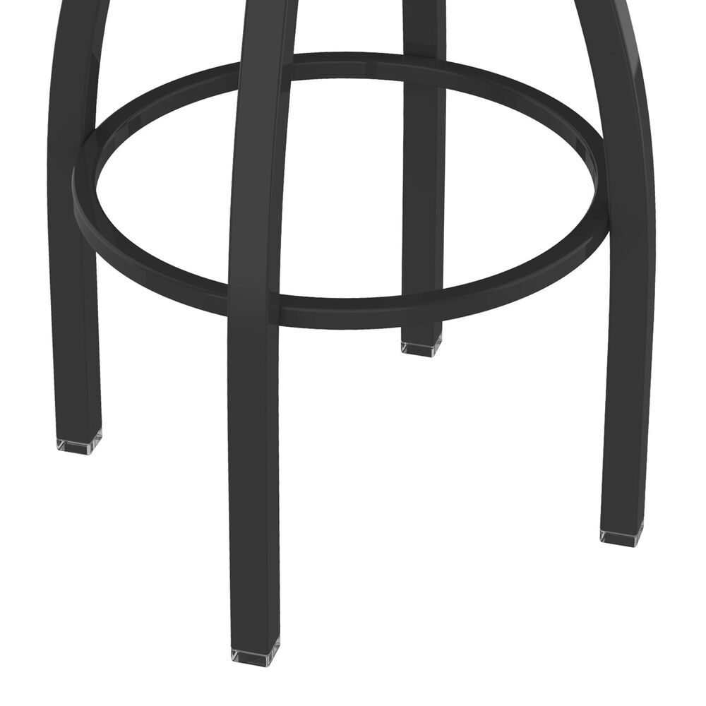 """Holland Bar Stool 802 Misha 25"""" Swivel Counter Stool with Pewter and Dark Cherry Oak Seat, , large"""