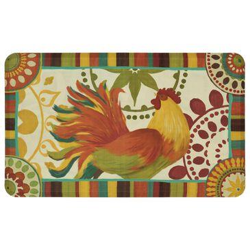 "Karastan Dri-Pro Comfort Painted Spice Rooster 4872-17615 1'6"" x 2'6"" Multicolor Area Rug, , large"