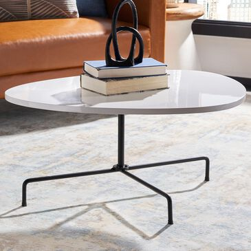 Safavieh Berlin Coffee Table in White and Black, , large