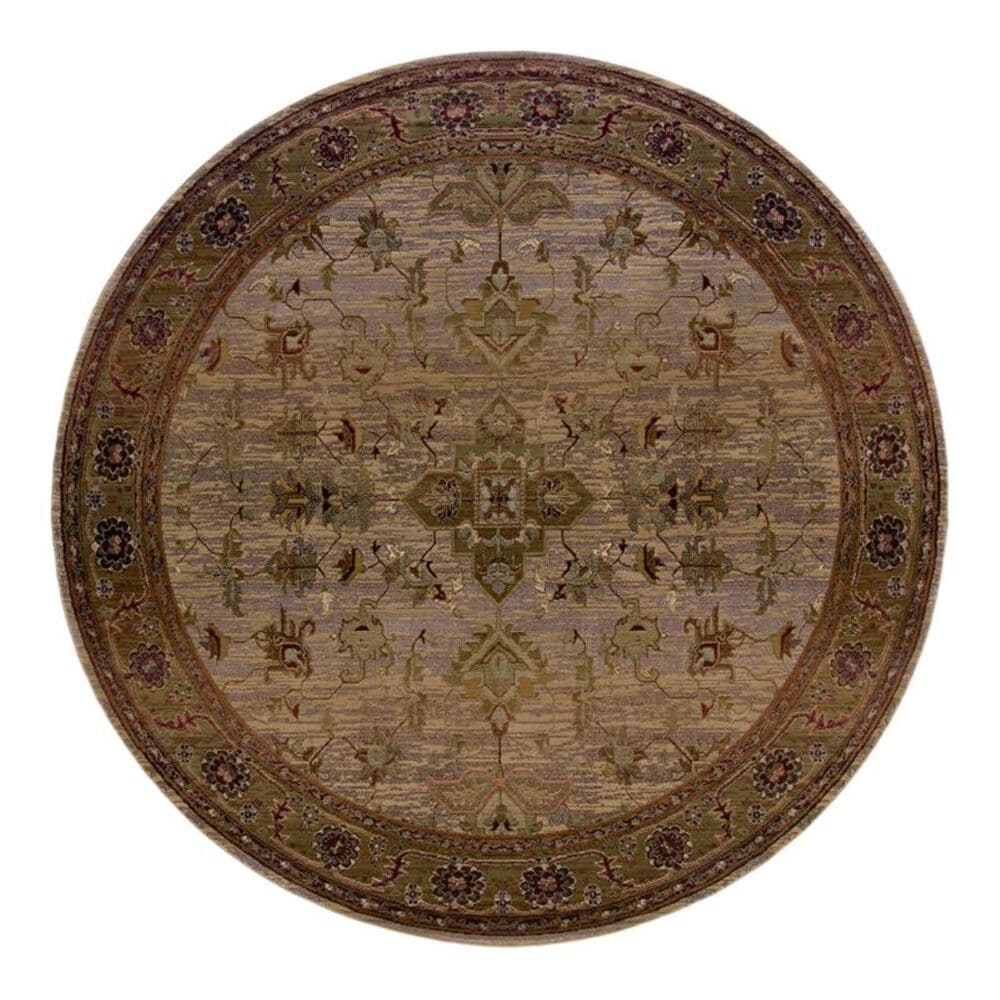 """Oriental Weavers Kharma 836Y1 6"""" Round Beige Area Rug, , large"""