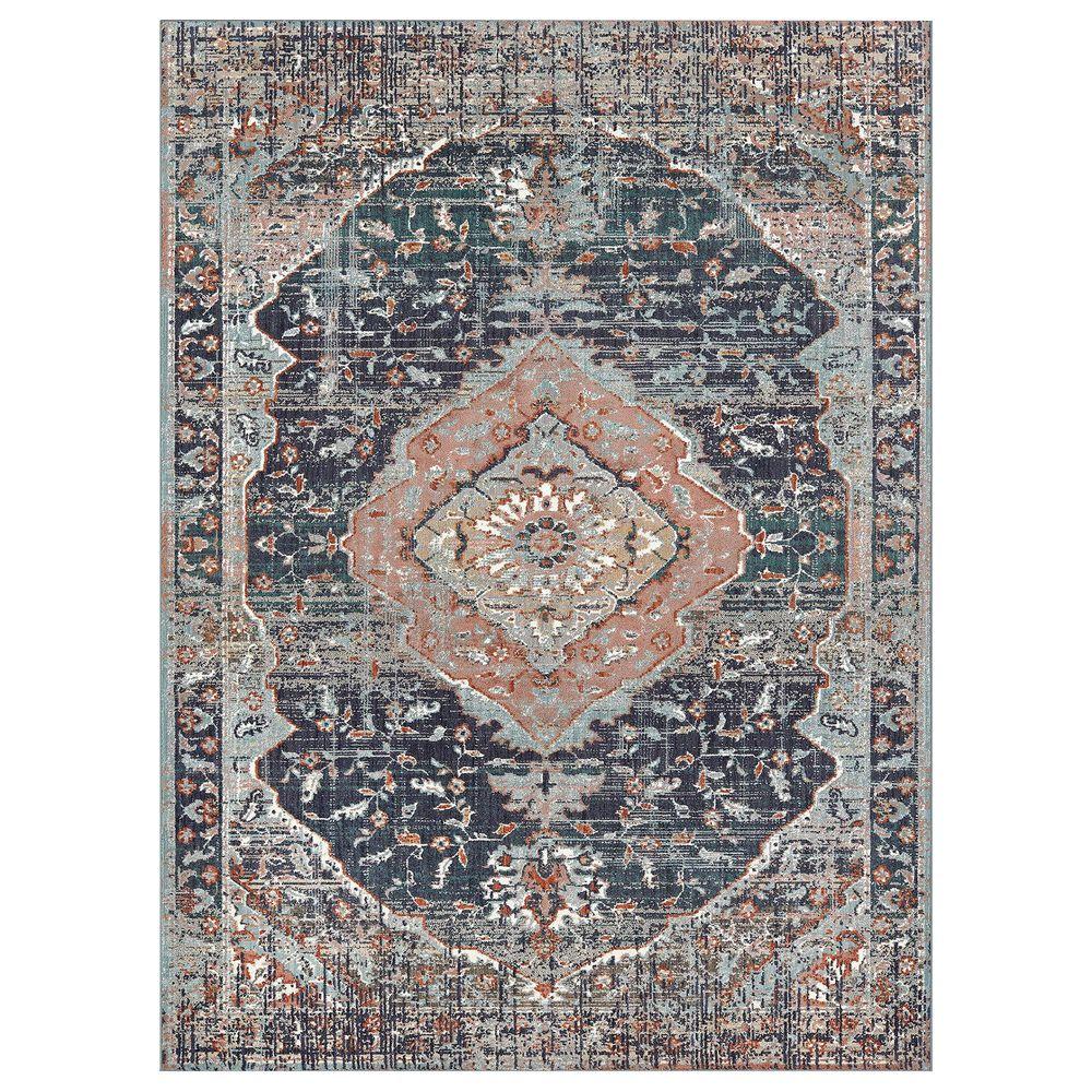 "Karastan Soiree Solace 91965-50102 2'4"" x 7'10"" Indigo Area Rug, , large"
