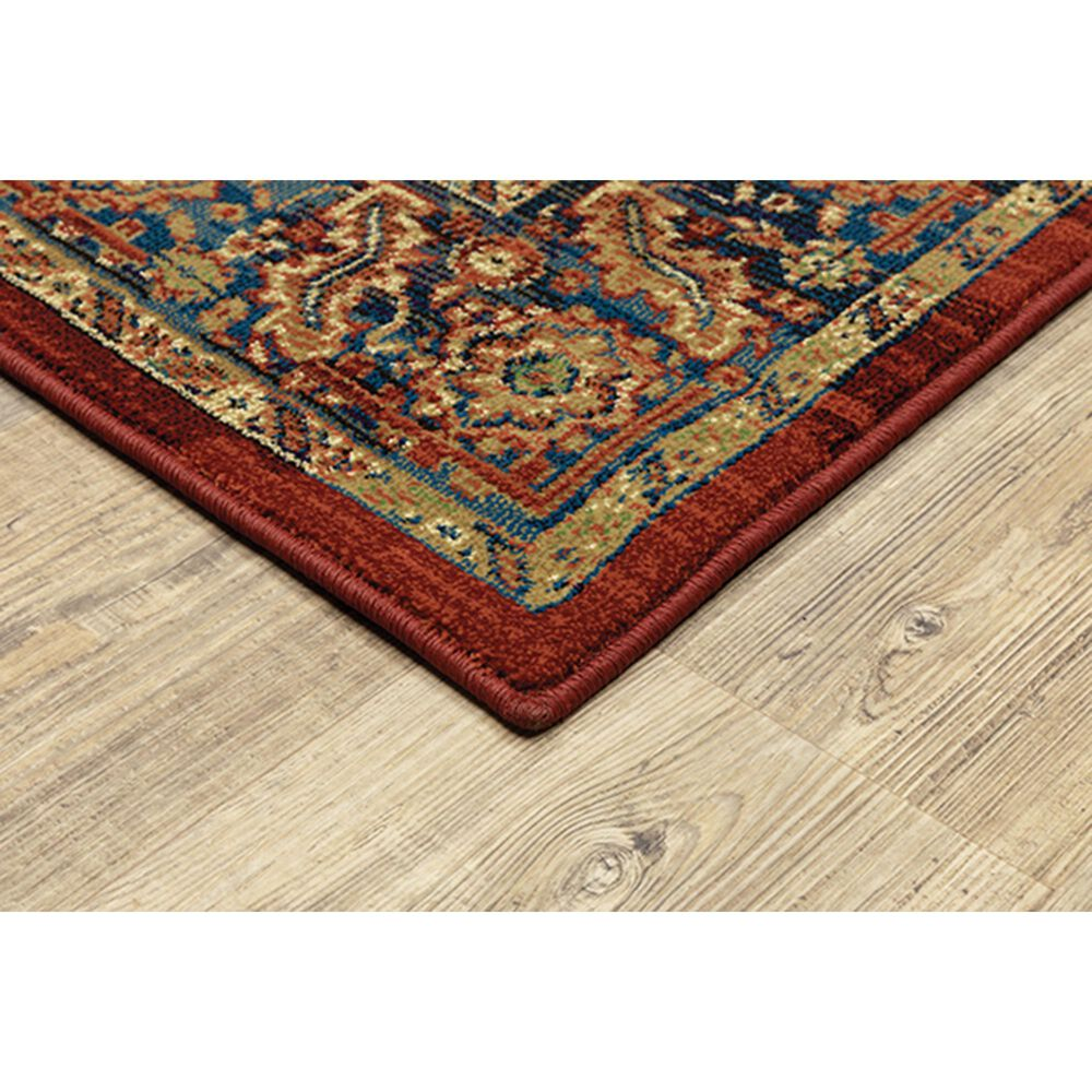 "Oriental Weavers Ankara Medallion 604R5 9'10"" x 12'10"" Red Area Rug, , large"